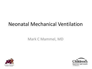 Neonatal Mechanical Ventilation