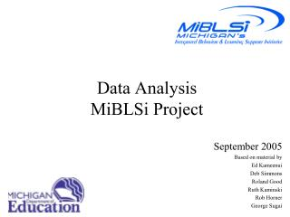 Data Analysis  MiBLSi Project