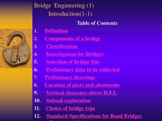 Bridge  Engineering (1)  Introduction(1-1)
