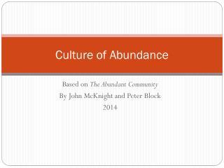 Culture of Abundance
