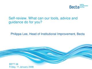 Self-review. What can our tools, advice and guidance do for you?