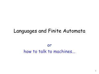 Languages and Finite Automata