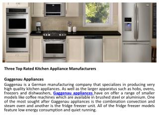 Top Rated Home Appliances by Able Appliances Ltd