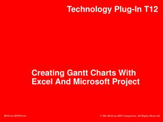 Creating  Gantt Charts With Excel And Microsoft Project