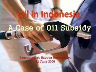 Oil in Indonesia: