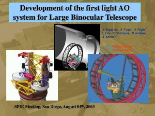 Development of the first light AO system for Large Binocular Telescope