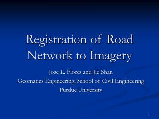 Registration of Road Network to Imagery