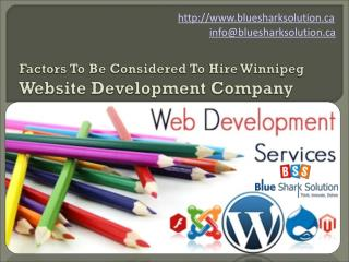 Factors to be considered to hire Winnipeg web development
