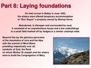 Part 8: Laying foundations