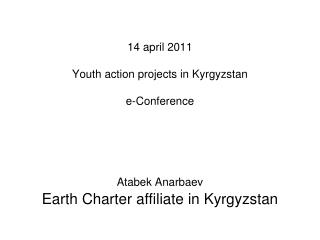 Earth Charter affiliate in Kyrgyzstan