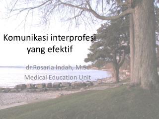 Komunikasi interprofesi yang efektif