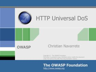 HTTP Universal DoS