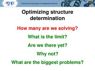 Optimizing structure determination