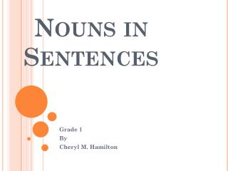 Nouns in Sentences