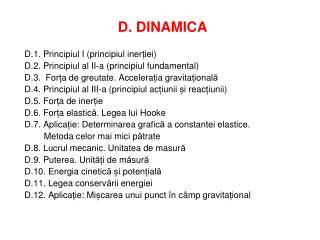 D. DINAMICA