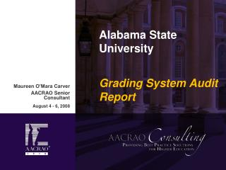 Alabama State University Grading System Audit Report