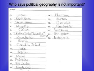 Who says political geography is not important?