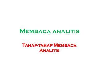 Membaca analitis