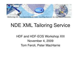 NDE XML Tailoring Service