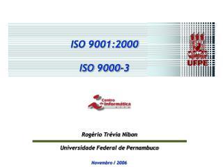 ISO 9001:2000 ISO 9000-3