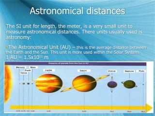 Astronomical distances