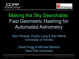 Making the Sky Searchable:  Fast Geometric Hashing for Automated Astrometry