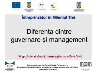 Diferența dintre  g uverna re și management