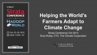 Helping the World's Farmers Adapt to Climate Change