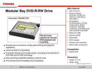 Modular Bay DVD-R/RW Drive