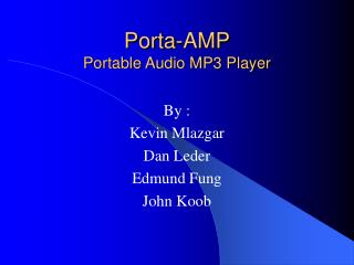 Porta-AMP Portable Audio MP3 Player