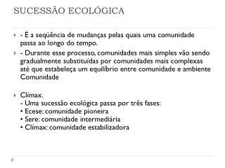 SUCESS�O ECOL�GICA