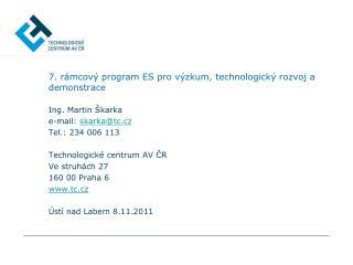 7. rámcový program ES pro výzkum, technologický rozvoj a demonstrace