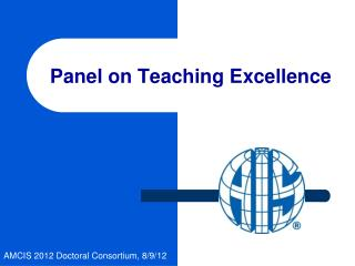 Panel on Teaching Excellence