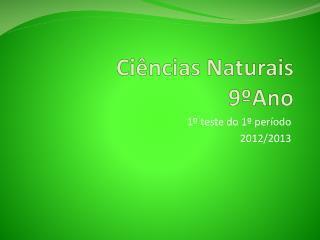 Ciências Naturais 9ºAno