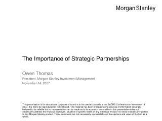 The Importance of Strategic Partnerships