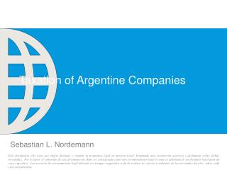 Taxation of Argentine Companies