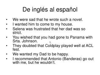 De inglés al español