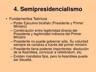 4. Semipresidencialismo