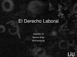 El Derecho Laboral