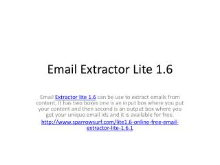 Email Extractor Lite 1.6