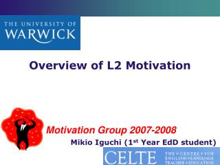 Overview of L2 Motivation