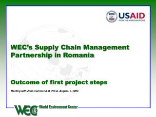 WEC's Supply Chain Management Partnership in Romania