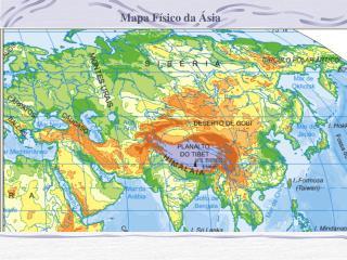Mapa F�sico da �sia