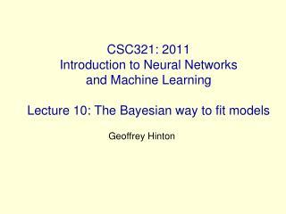 Geoffrey Hinton