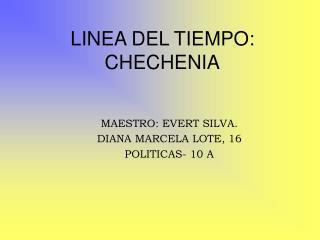 LINEA DEL TIEMPO: CHECHENIA