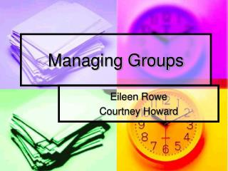 Managing Groups