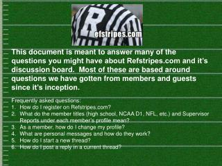 Frequently asked questions: How do I register on Refstripes?