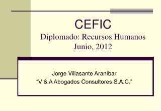 CEFIC Diplomado: Recursos Humanos Junio, 2012