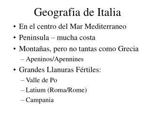 Geografia de Italia