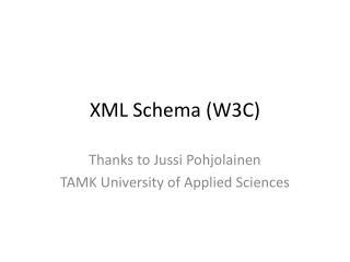 XML Schema (W3C)